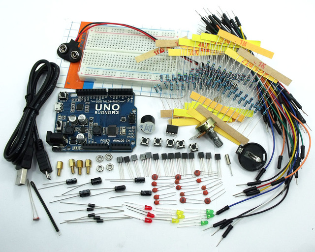 ASK-02 Electronic Project Starter Kit UNO R3 for arduino Resistors Capacitor LED