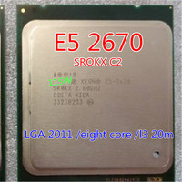 Intel Xeon Octa Core Processor E5 2670 L3 Cache 20M 2 60 GHz 8 00 GT