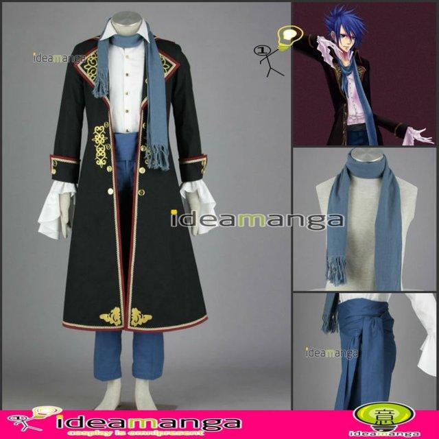 [ideamanga]Manga Amime V+ VOCALOID Gothic Style KAITO boy's Cosplay Costume man male halloween party dress Any Size