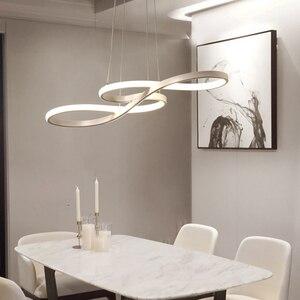 Image 4 - Length 1250/750mm Modern Led Hanging Chandelier For Dining Kitchen Room Bar Suspension luminaire Pendant Chandeliers AC85 265V