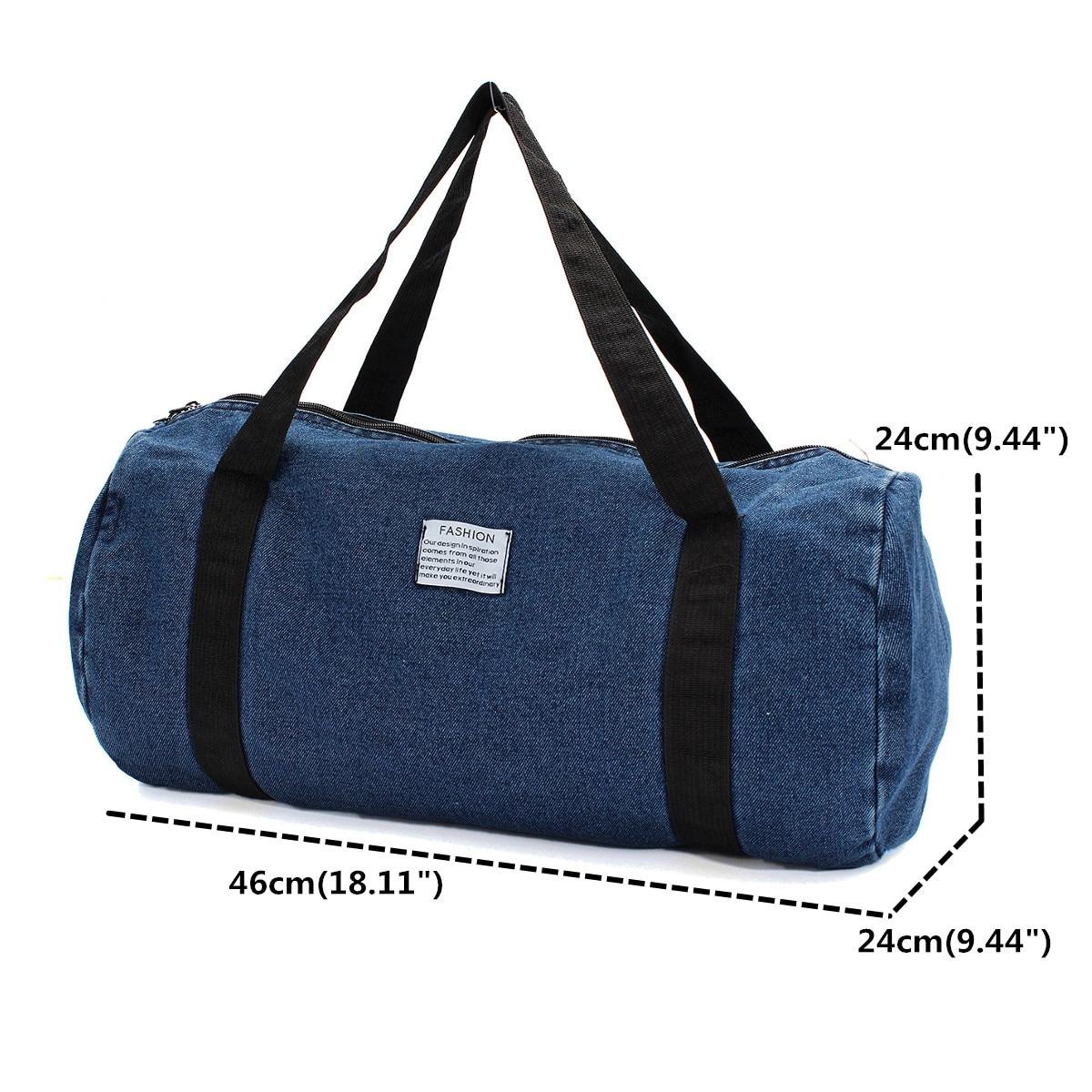 3c647da153ba Outdoor Sport Gym Bag Travel Duffel Denim Jean Cloth Sport Bags ...