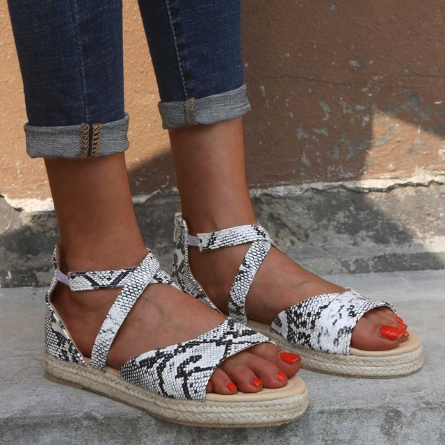 SAGACE Shoes Sandals Women Summer Fashion zipper Sandals Leopard Wedges Platform Retro Peep Toe Casual new shoes woman 2019May13