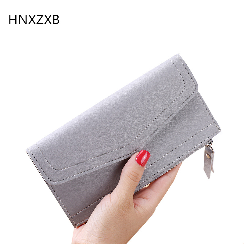 HNXZB Fashion and contracted women wallet Nubuck leather pure long purse large multiple capacity female wallet free shipping