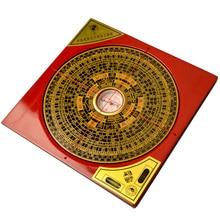 עתיקות סיני Fengshui מקצוע מצפן כיכר מתכת משטח luopan LuoJingYi מקצועי מאסטר אספקת בית תפאורה