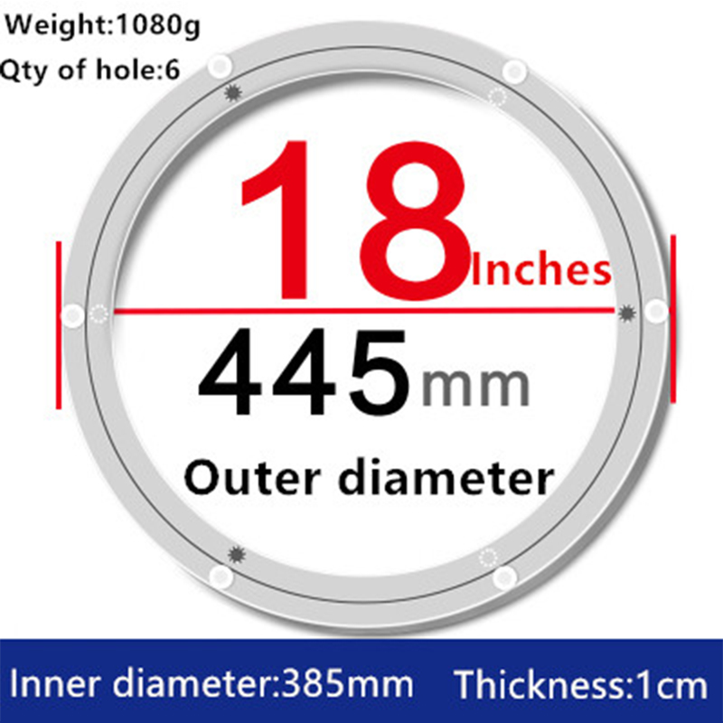 1pc 18 inches 44.5cm Big Aluminium Alloy Swivel Plate Lazy Susan Turntable Dining Table for Kitchen Furniture