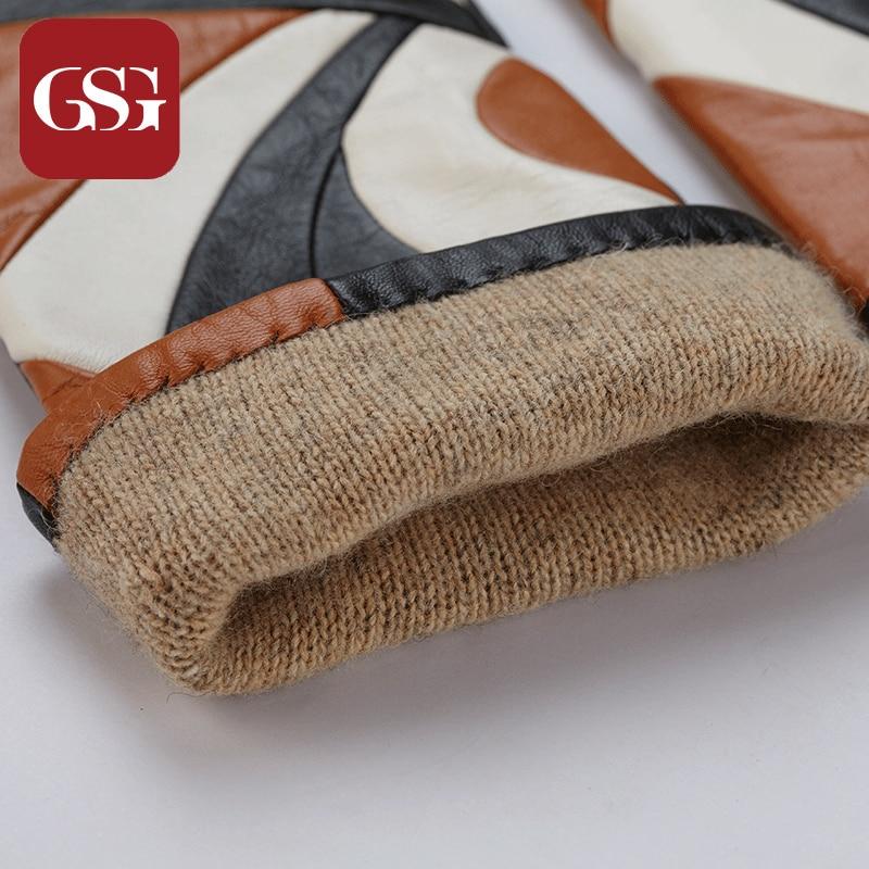 Gsg neue mode frauen echtes leder lange handschuhe mit patchwork - Bekleidungszubehör - Foto 5