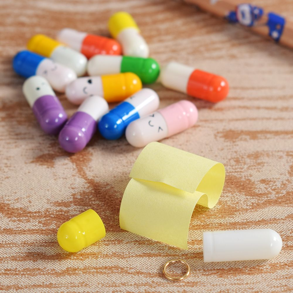 100PCs //Pack Message in a Bottle Message Capsule Letter Love Pill Full C approx.
