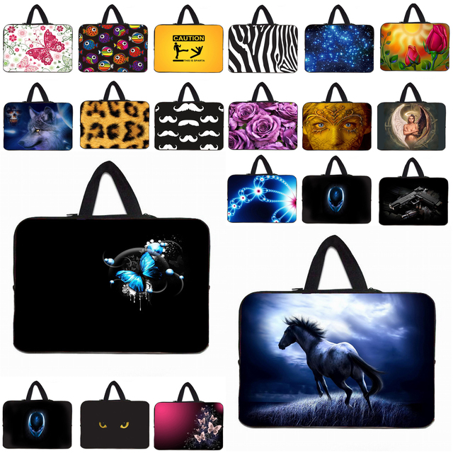 "Waterproof PC Inner Bags Cases + Handle 10"" Universal 9.7 10.1 10.2 Inch Fashion Tablet Netbook Protector Bag For Samsung Lenovo"