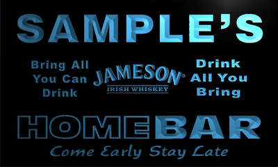 r016-tm Jameson Personalized Custom Name Home Bar Whiskey Beer Light Neon Sign Wholesale Dropshipping On/Off Switch 7 Colors DHL
