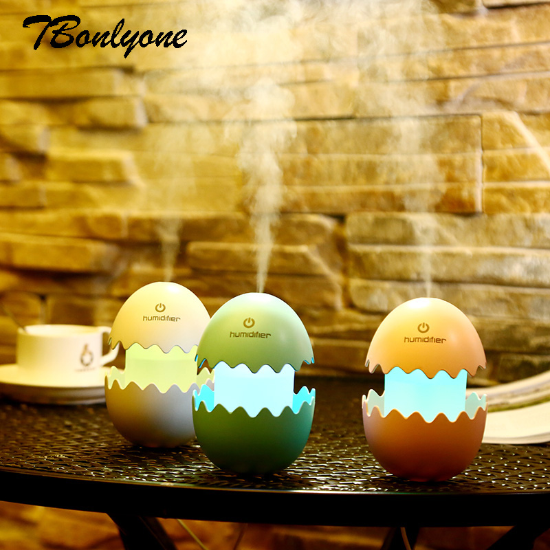 100ML Egg Humidifier For Homeoffice Car Water Soluble Oil Aroma Diffuser Colorful Nightlight Ultrasonic Air Humidifier
