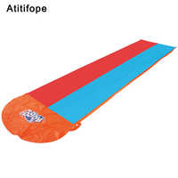 High quality children's outdoor swimming toy racing game double slide large 480cm