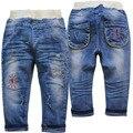 4007 soft Niños pantalones pantalones bebé niños jeans muchacha de los niños del otoño del resorte pantalones vaqueros del bebé pantalones moda de nueva