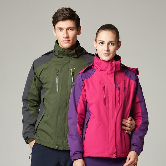 2017 Softshell Outdoor Jacket  Men Women Lovers Winter autumn Waterproof Windproof Hiking Jackets Fleece Hooded Mountain Wear men winter outdoor jacket autumn hiking