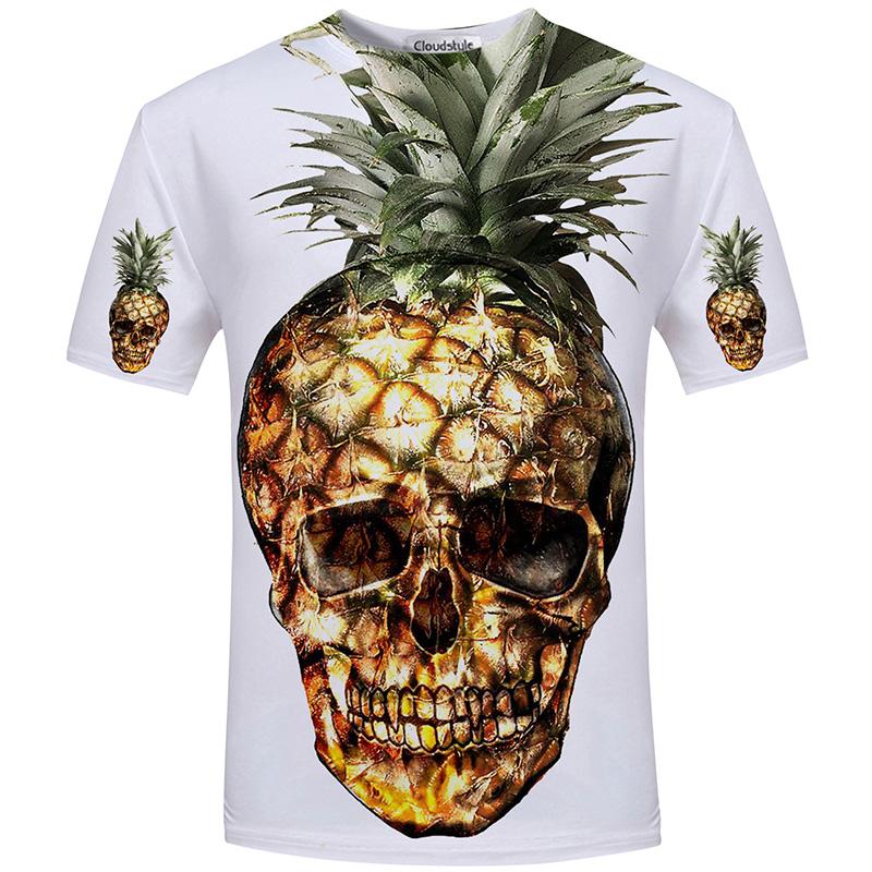 HTB19POWSFXXXXbAXFXXq6xXFXXXt - Men's New Fashion 2018 - Quality 3D Skull Print Design Stylish Casual T-Shirt