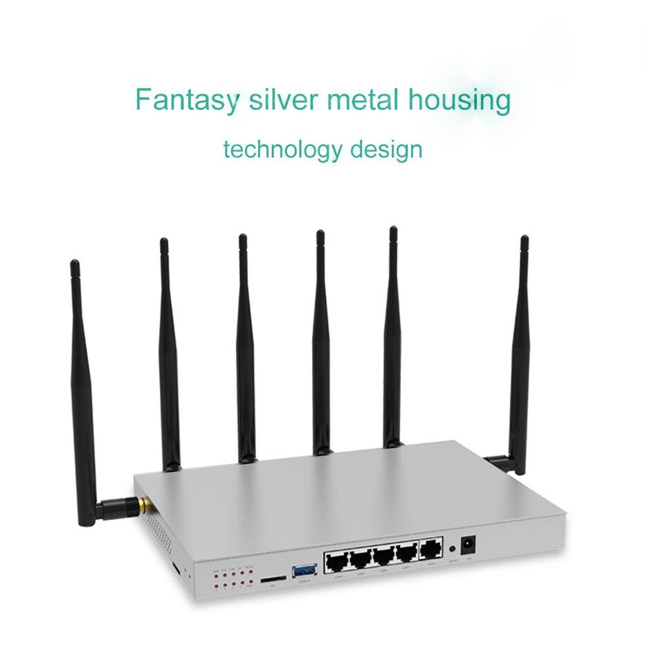 Routeur sans fil WR646 routeur 4G Lte avec Support de fente pour carte Sim 3G 4G Modem routeur double bande Openwrt Wifi répéteur 1200 Mbps