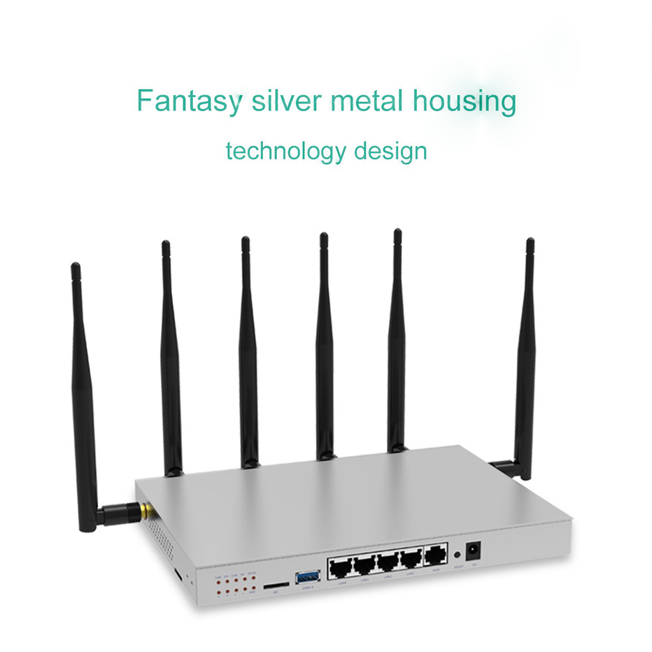 WR646 Wireless Router 4G Lte Router With Sim Card Slot Support 3G 4G Modem Router Dual Band Openwrt Wifi Repeater 1200Mbps image