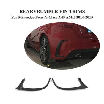 Karbon Fiber Otomatik Arka Tampon Delikleri Dış Trimler Çıkartmaları Benz a-sınıfı W176 A45 AMG Tampon Sadece 2014 -2015