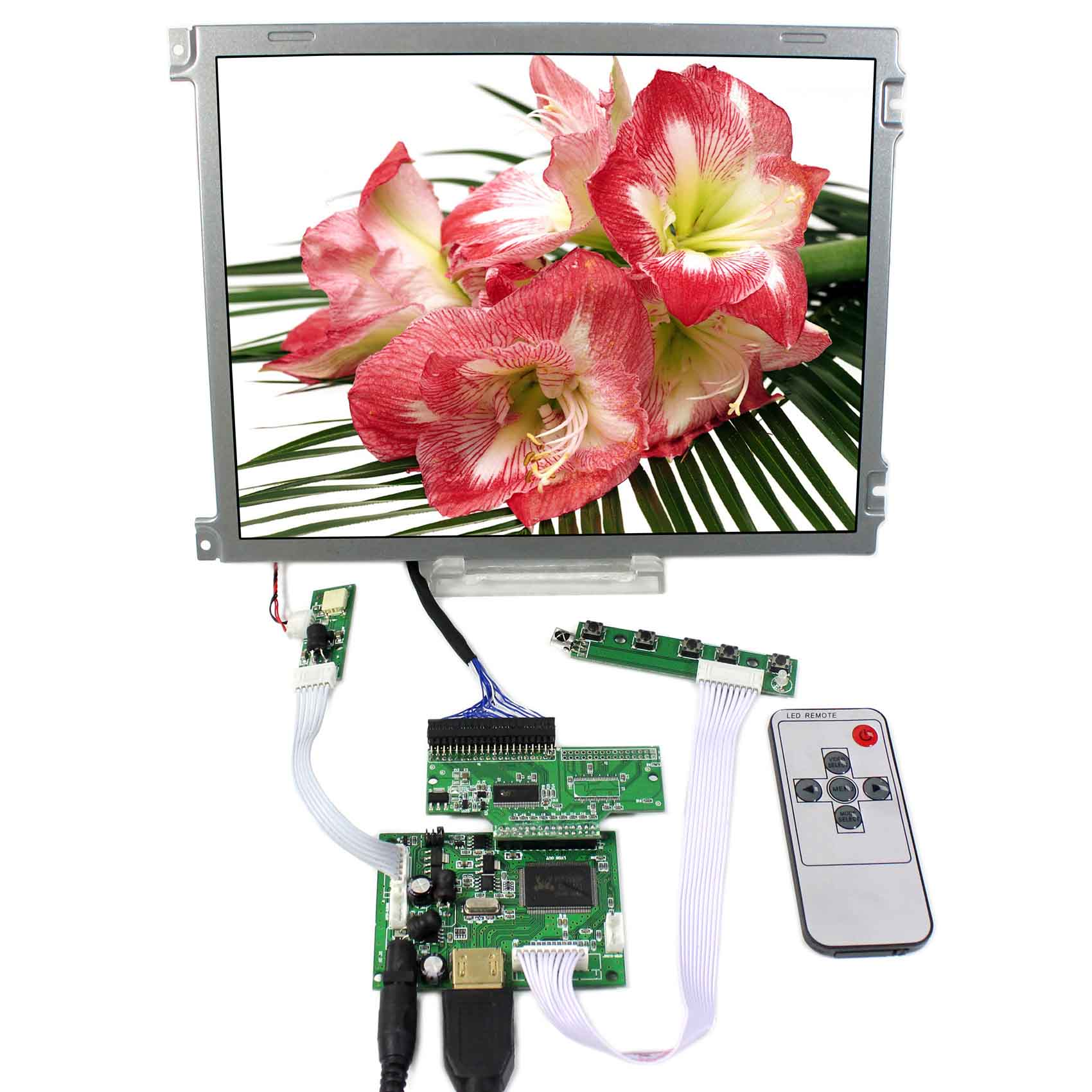 HDMI LCD Controller Board With 10.4inch 640x480 AA104VH01 LCD ScreenHDMI LCD Controller Board With 10.4inch 640x480 AA104VH01 LCD Screen