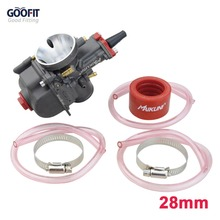 GOOFIT PWK28 28mm Carburetor Carburettor with Fuel Hose for KAWASAKI KX80 KX100 KX125 GASGAS BSA Carb A012-631