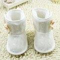 Newborn Infant Toddler Kids Bebé De Punto Botas de Nieve de Invierno de Suela Suave Fleece Botas Zapatos del Pesebre
