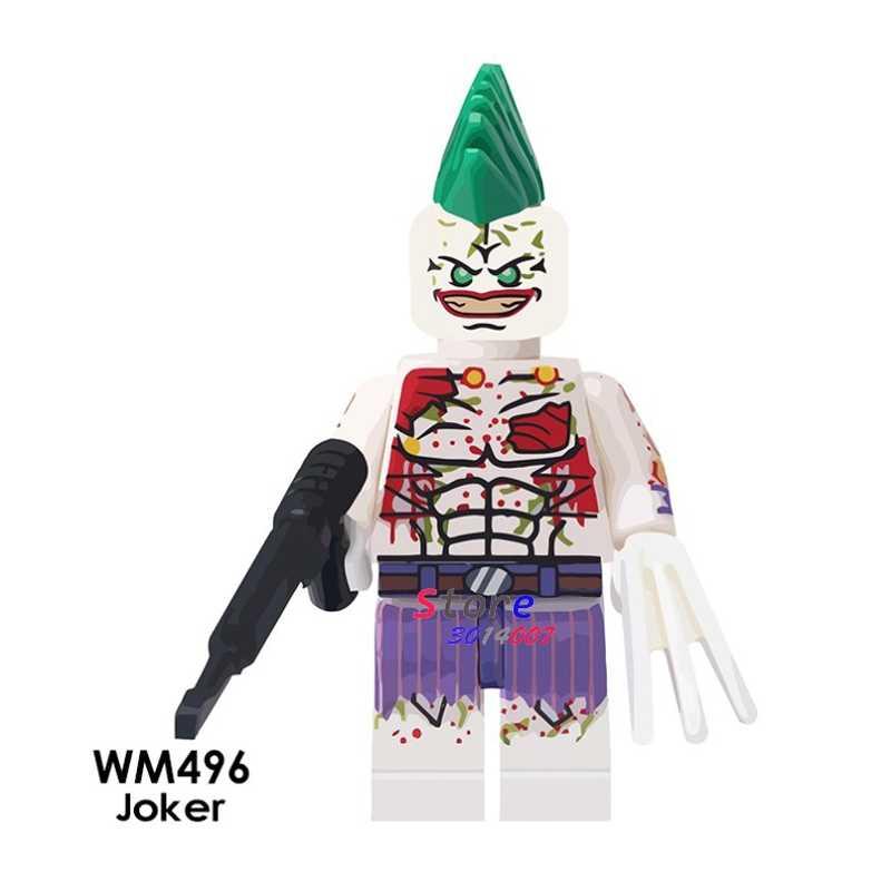 1 Buah Model Blok Bangunan Aksi Superhero Joker Klasik Ide Pesta Boneka DIY Mainan untuk Anak-anak Hadiah
