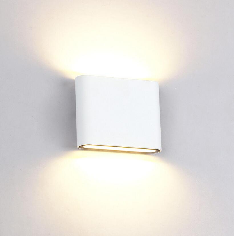 ФОТО 6pcs/lot Aluminum Modern Wall Sconce Square Round Designed 6W12W LED wall light decoration Home lighting AC85V-265V Wall mounted