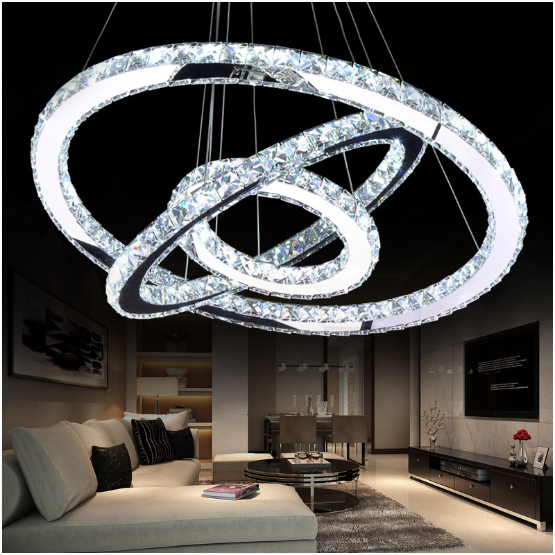 Hot sale Diamond Ring LED Crystal Pendant Light Modern LED bar decor Lighting Circles Hanging Lamp 100% GuaranteeHot sale Diamond Ring LED Crystal Pendant Light Modern LED bar decor Lighting Circles Hanging Lamp 100% Guarantee