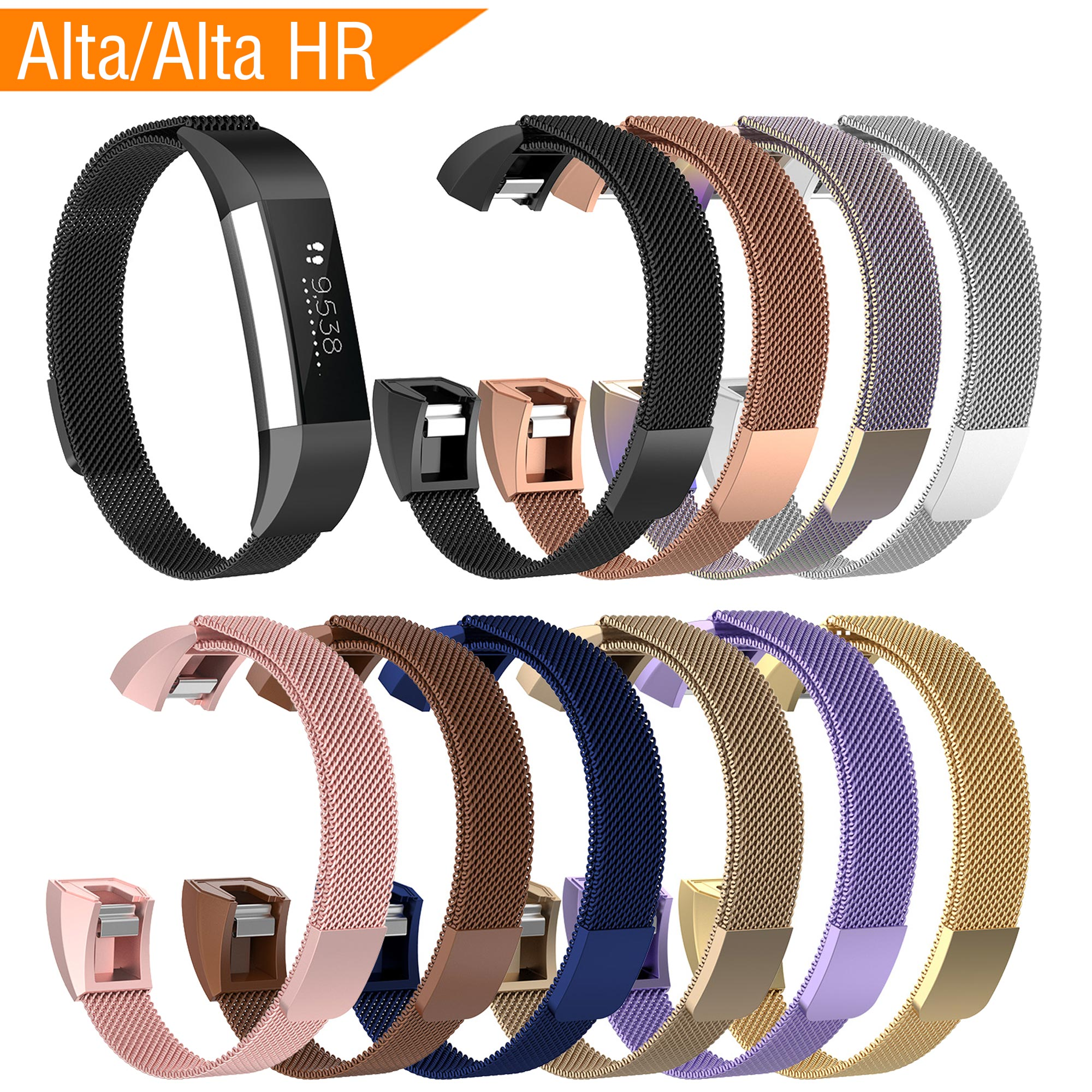 Fashion High Quality Metal Strap for Fitbit Alta Hr Replacment Band Smart Watch Stainless Steel Wrist Strap for Fitbit Alta Band image