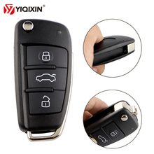 YIQIXIN 3 Button Folding Flip Remote Car Key Shell For Audi A6 A6L VW Pasha Bora Skoda Seat Without Blade