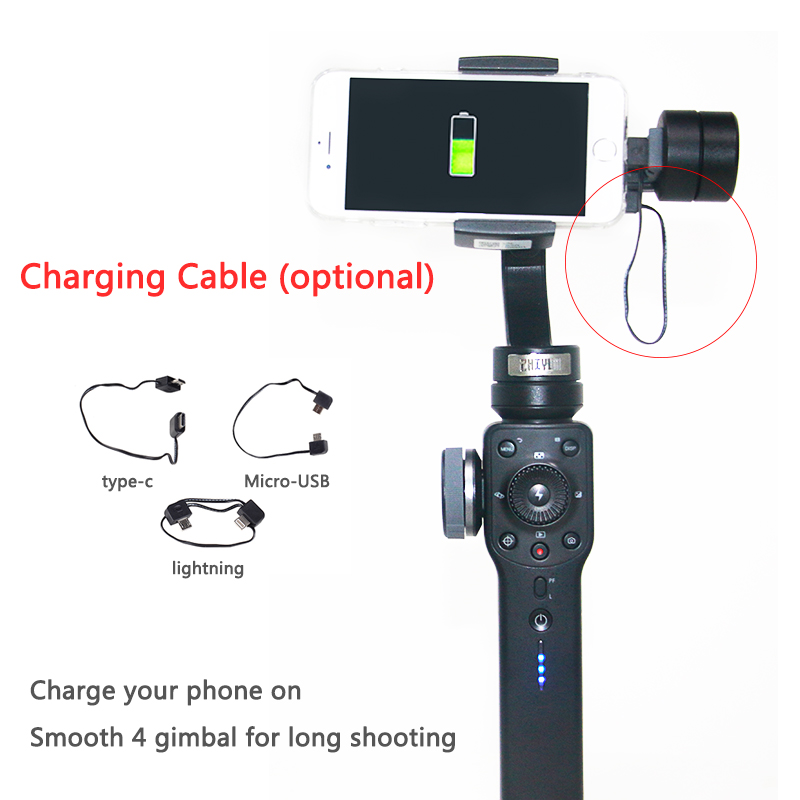 Zhi Yun Zhiyun Charging Cable Type C Micro-USB for Lightning cable for Zhiyun Smartphone Smooth Q 4 Vimble 2 Gimbal