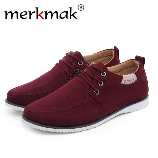 Merkmak Trendy Leisure Men Shoes 2018 Luxury Brand Breathable Comfortable for Male Footwear Fashion Men's Flats Shoes Drop Ship