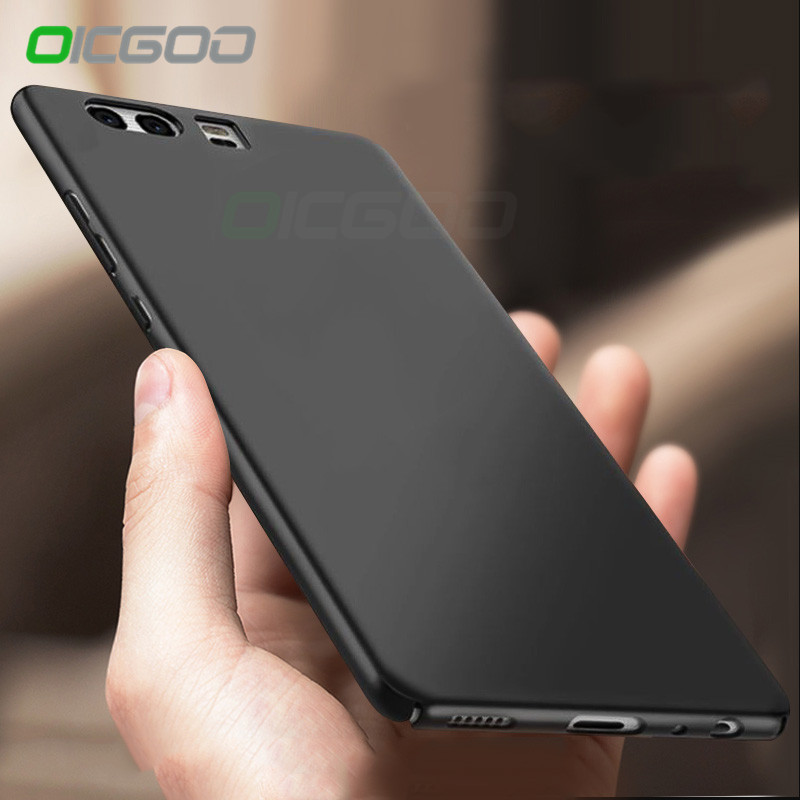 OICGOO High Quality PC Plastic Case For Huawei P9 P9 Lite Hard Back Matte For Huawei P10 Lite Plus Honor 9 Lite V10 Cover Case