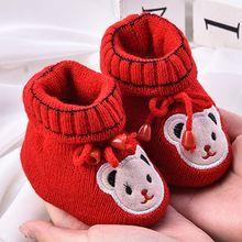 Для новорожденных, для маленьких мальчиков обувь для девочки мягкая подошва противоскользящая обувь, сапоги детские ходунки осень-зима Детские Обувь с рисунком из мультфильмов для детей от 0 до 6 месяцев