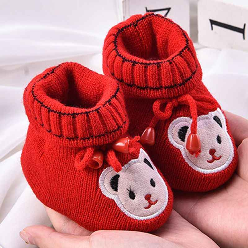 Newborn Baby Boy Girl Boots Soft Bottom Anti-slip Shoes Bootie Infant Toddler Prewalker Autumn Winter Baby Cartoon Shoes 0-6M