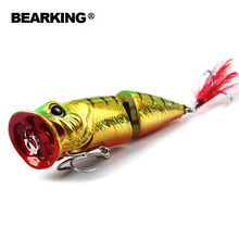 Bearking brand quality 1PCS popper Fishing Lure Laser Hard Artificial Bait 3D Eyes 70mm 11.5g Fishing Wobblers Crankbait Minnows(China)