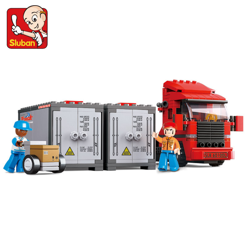 Building Block Sets Compatible with lego traffic container truck 3D Construction Brick Educational Hobbies Toys for Kids loz mini diamond block world famous architecture financial center swfc shangha china city nanoblock model brick educational toys