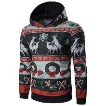 Envmenst 2017 mode weihnachten hooides männer kleidung sweatshirts hohe qualität Schlank hoody mann Deer Kleidung