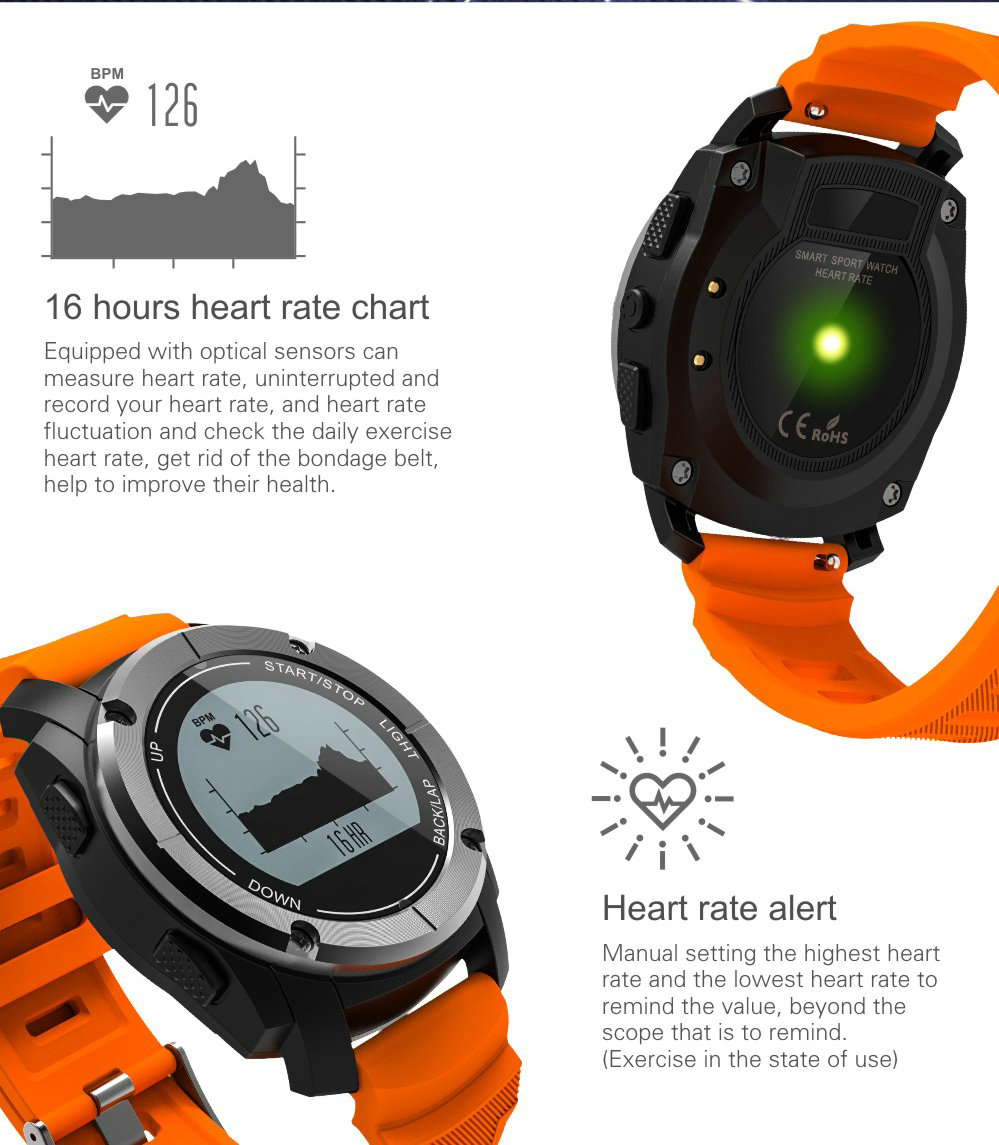 Greentiger GPS Outdoor S928 Smart Watch Heart Rate Monitor Smart Wristband Sport Smartwatch for Android IOS Phone 10