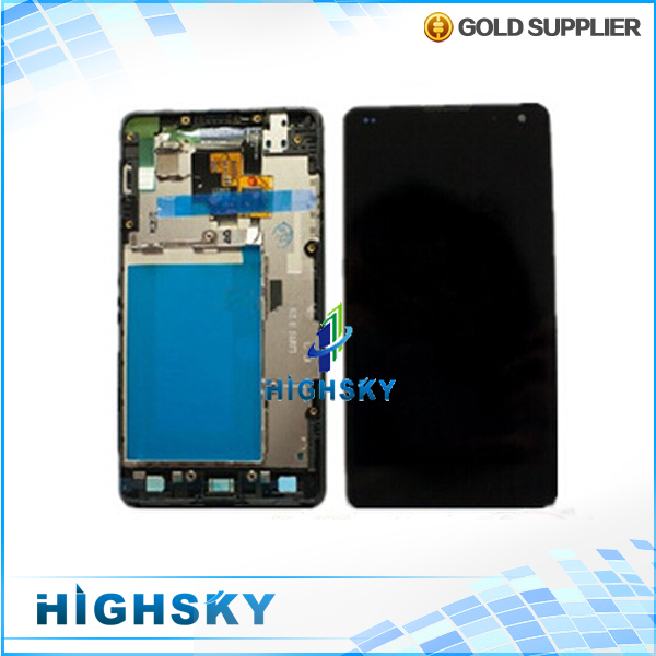 1 piece free hongkong post for LG Optimus G E970 lcd screen with touch digitizer display complete with frame