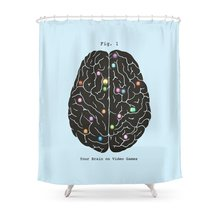 CHARM HOME Your Brain On Video Games Waterproof Polyester