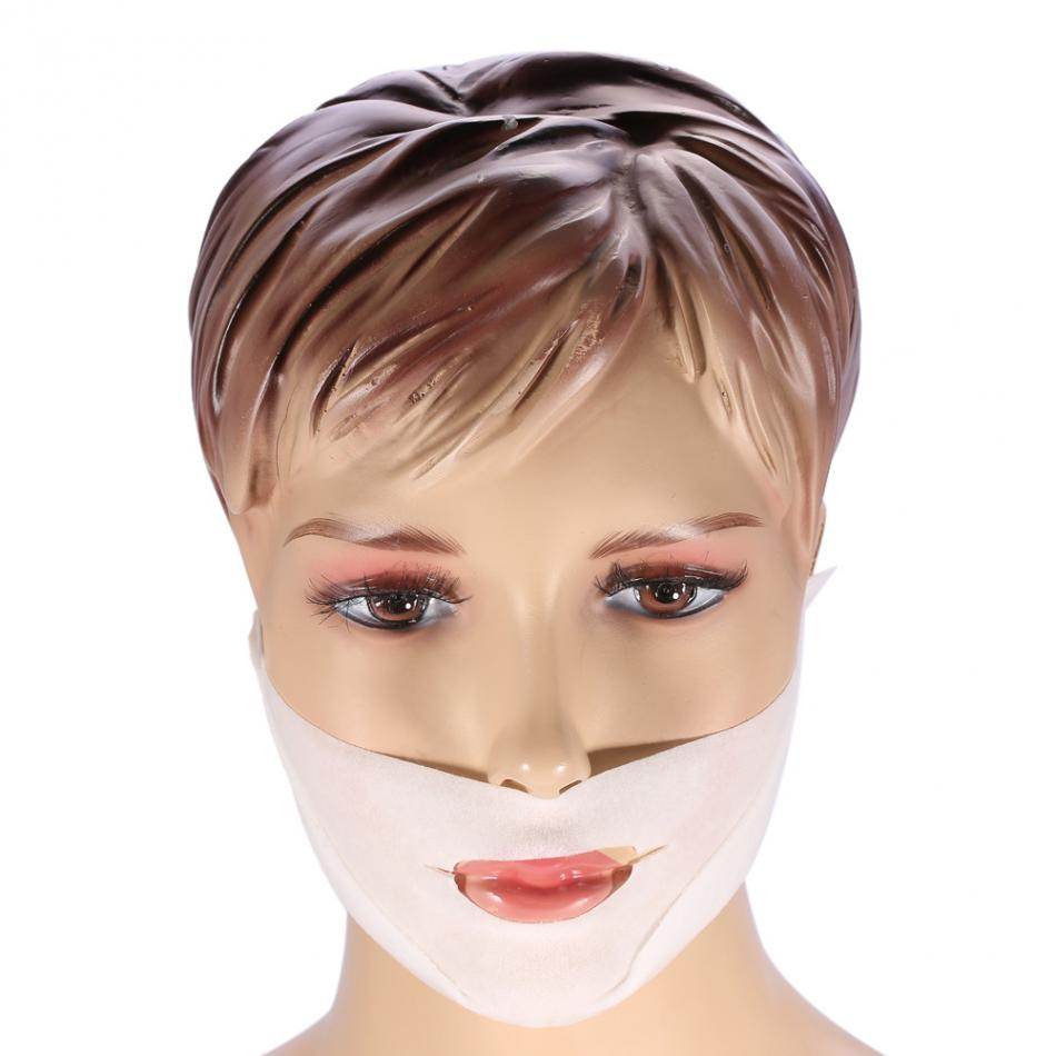 1PCs Women Face Lifting Mask Skin Care 3D Contour Lift Up Jaw & Cheek Slim Double Chin V-shape Facial Moisturizing Firming Mask