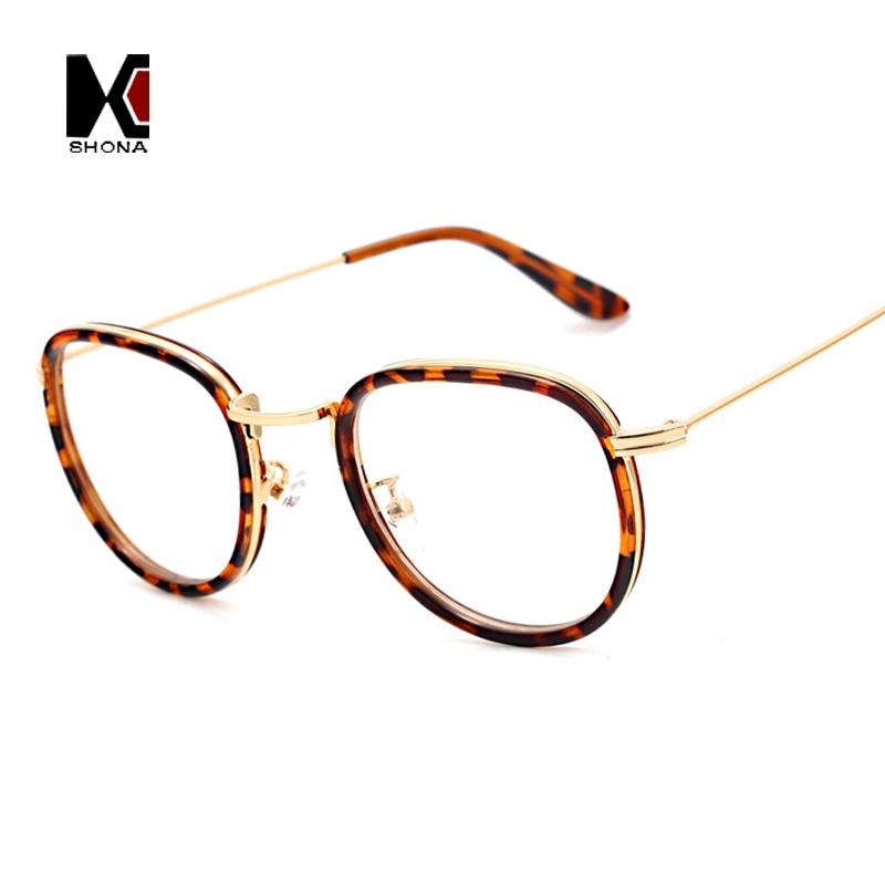 New Style Fashion Women Round Glasses Metal Quality Myopia ...