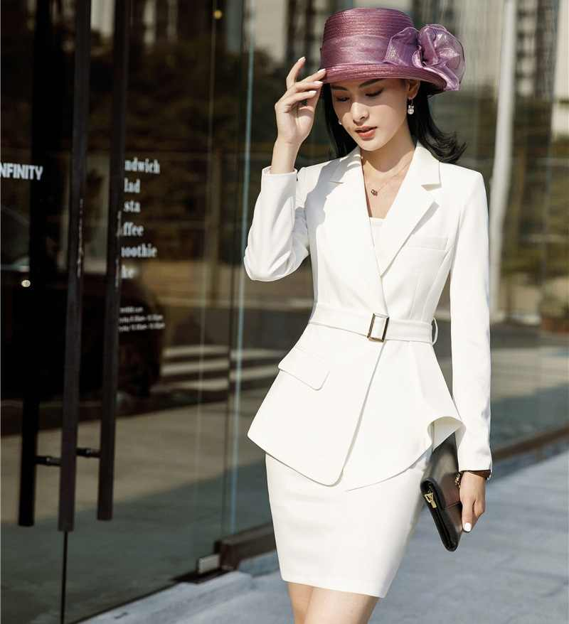 8574ad167366b Ladies Office Uniform Designs Business Suits With Skirt and Tops ...