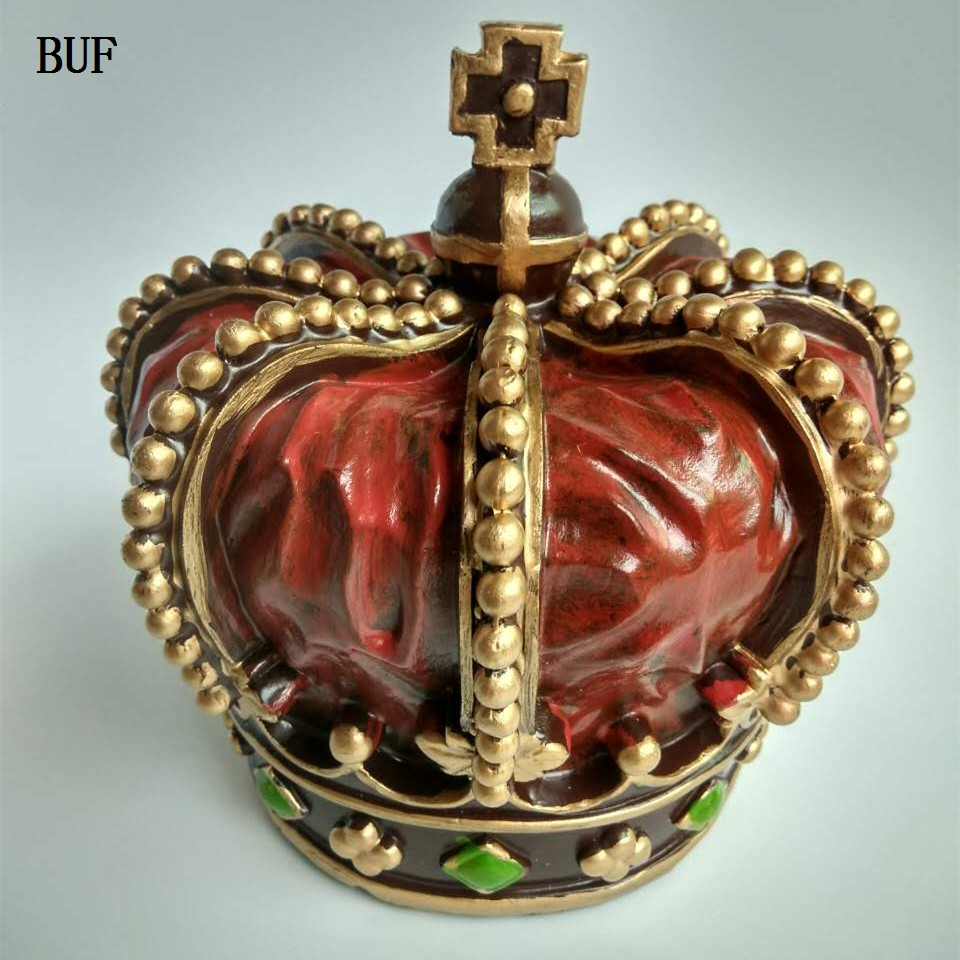 Buf Crown Statue Fashion Western Home Decor Sculpture Handmade Resin Craft Art Collection Gift Beauty Craftsmanship