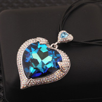 Classic Blue Ocean Star Luxury Necklace All Match Leather Cord Necklaces Pendants