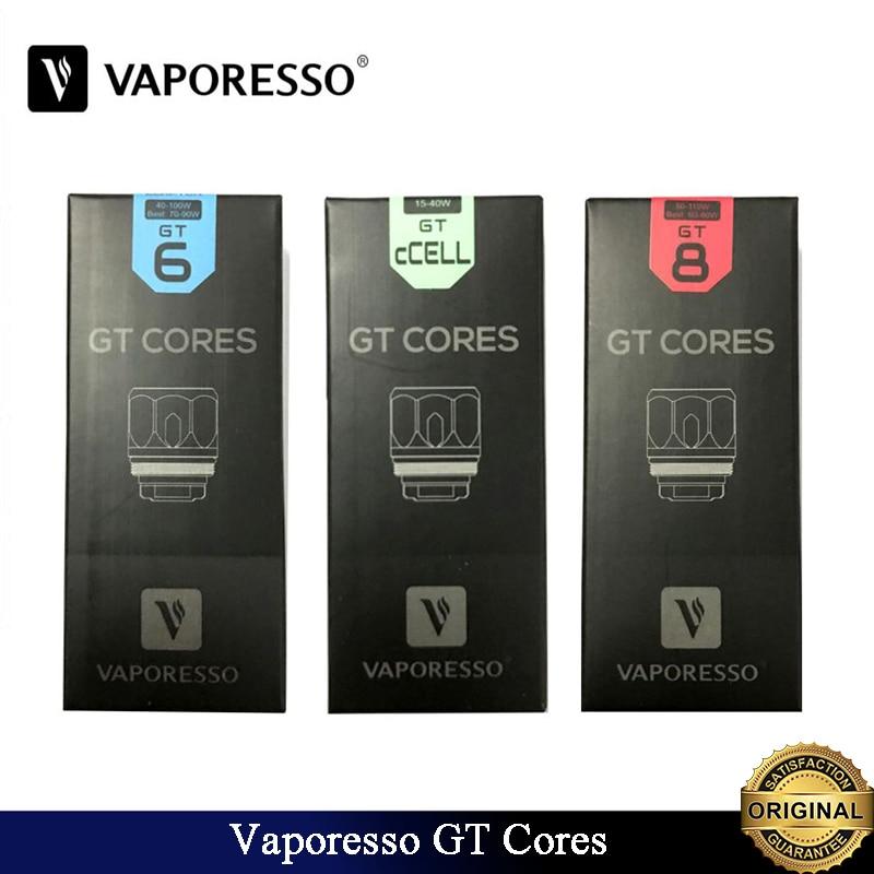 9pcs lot Original Vaporesso GT Coil GT CCELL GT MESH GT CCELL2 Core Fit Electronic Cigarette