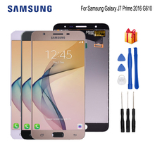 Original Display For SAMSUNG Galaxy J7 Prime 2016 LCD Touch Screen For SAMSUNG J7 Prime G610 G610F G610 LCD Display Phone Parts чехол для samsung galaxy j7 prime sm g610f ds skinbox 4people slim silicone прозрачный