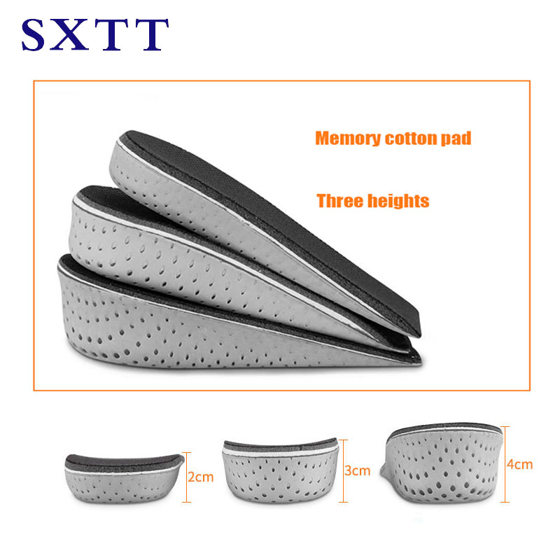 SXTT Half Insole Heighten Heel Insert Sports Shoes Pad Cushion arch support  Height Increase Insole orthopedic insoles for shoes