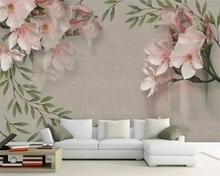 все цены на beibehang Custom mural 3d wallpaper Vintage elegant pink floral sofa tv background wall papel de parede wall paper home decor онлайн