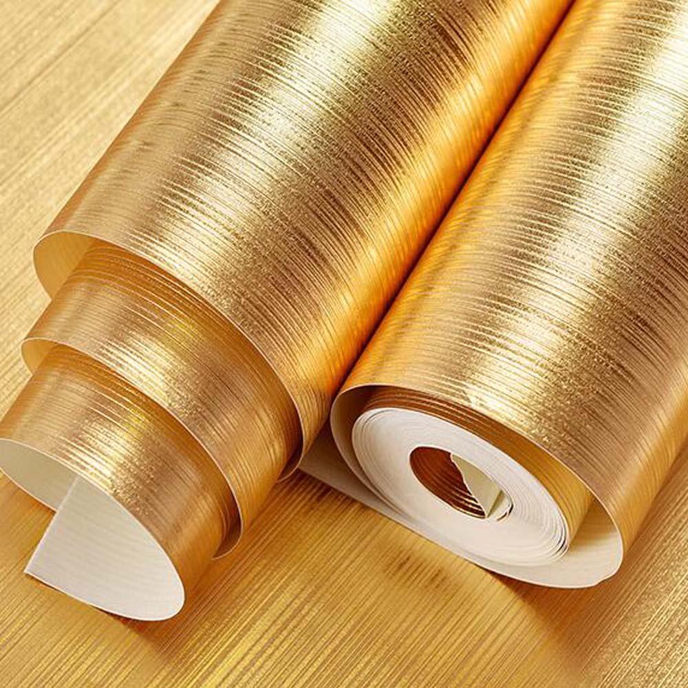 Online kaufen großhandel gold metallic tapete aus china gold ...
